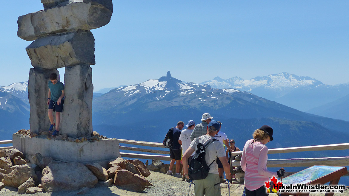 Whistler Mountain Summit Inukshuk and Black Tusk